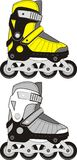 Extreme Sports Roller Skates. Two colors. Vector Royalty Free Stock Photos