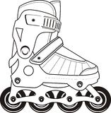 Extreme Sports Roller Skates - vector contour Stock Images