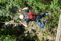 Extreme sports Ropejumping Royalty Free Stock Images
