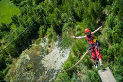 Extreme sports Ropejumping Royalty Free Stock Photography