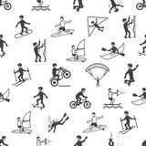 Extreme sports seamless pattern Stock Photography