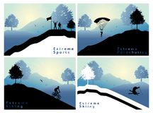 Extreme sports set 2 Royalty Free Stock Photography