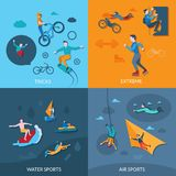 Extreme Sports Set Royalty Free Stock Photos