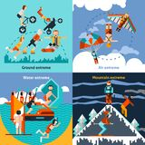 Extreme Sports Set. Extreme ground water air mountain sports set isolated vector illustration Stock Photo