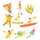 Extreme Sports Sticker Collection Royalty Free Stock Images