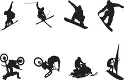 Extreme sports vector Stock Image