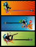 Extreme sports vector. Composition over a colors background royalty free illustration