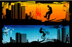 Extreme sports vector Royalty Free Stock Photography