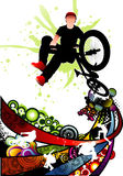 Extreme sports vector. Illustration composition over a white background Royalty Free Stock Images