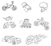 Extreme Sports Vector Sketch Stock Photography
