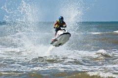 Extreme Strahlski watersports stockbilder