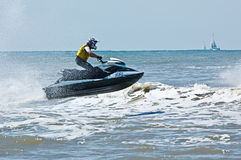 Extreme Strahlski watersports stockfotografie
