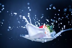 Extreme Strawberry splash Royalty Free Stock Image