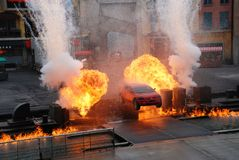 Extreme Stunt show royalty free stock photo