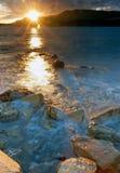 Extreme sunset royalty free stock photography