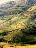 Extreme terrain modified for agriculture Stock Photos