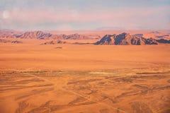 The extreme terrain of the Namib Desert, Namibia. royalty free stock photography