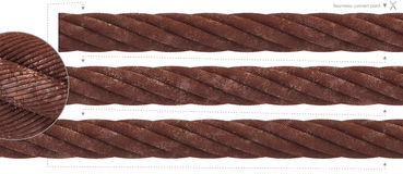 Extreme thick rust cable seamless wire rope Stock Photography