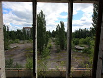 Extreme Tourism in Chernobyl Royalty Free Stock Image