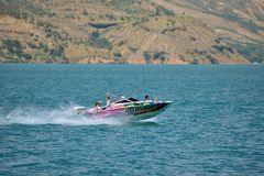 Extreme trip on the water. Charvak reservoir. Stock Photos
