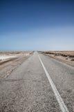 Extreme Wüstenstraße Lizenzfreies Stockbild