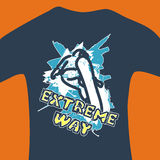 Extreme way - vector print for sweatshirt Stock Photography