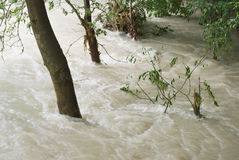 Extreme Weather and Flooding. River Flooding after Heavy Rain in Europe Stock Photos