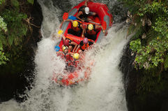 Extreme Whitewater Rafting royalty-vrije stock foto's