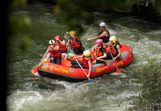 Extreme Whitewater Rafting Stock Afbeeldingen