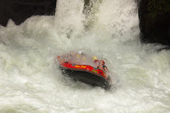 Extreme Whitewater Rafting royalty free stock images