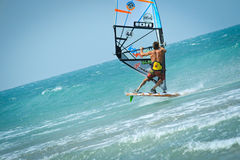 Extreme Windsurfing tricks Stock Images