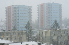 Extreme winter in Europe. Photo of this winter's extreme weather in Cluj Napoca, Romania. Photo taken on 22.01.2012 Stock Photo