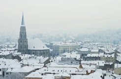 Extreme winter in Europe Stock Photo