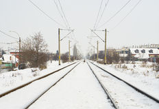 Extreme winter in Europe Royalty Free Stock Photos