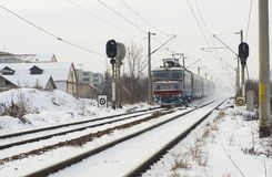 Extreme winter in Europe Stock Images