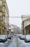 Extreme winter in Europe. Photo of this winter's extreme weather in Cluj Napoca, Romania. Photo taken on 05.02.2012 Stock Photography