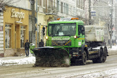 Extreme winter in Europe Stock Image