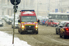 Extreme winter in Europe Stock Photography