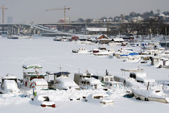 Extreme winter in Europe Royalty Free Stock Image