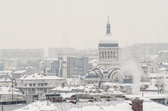 Extreme winter in Romania Stock Photo