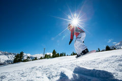 Extreme winter sport Royalty Free Stock Images