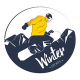 Extreme winter sport. Snowboarding prints for t-shirt, design, poster and etc. Vector graphic of snowboarding. Extreme winter sport vector illustration