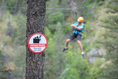 Extreme Zip-Lining royalty free stock photos