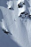 Extremee Freeride Skifahren Lizenzfreie Stockfotografie