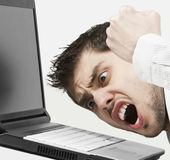 Extremely angry businessman Stock Photos