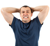 Extremely angry man Royalty Free Stock Images