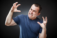 Extremely angry man Royalty Free Stock Photos