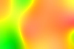 Extremely blurred vivid green and orange color of lighting for background Stock Image