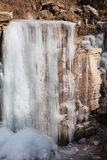 The extremely cold weather frozen icicles Stock Photography