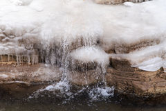 The extremely cold weather frozen icicles Royalty Free Stock Image